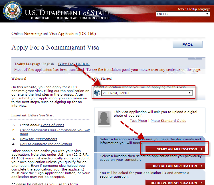 hướng dẫn xin visa mỹ vietmytravel