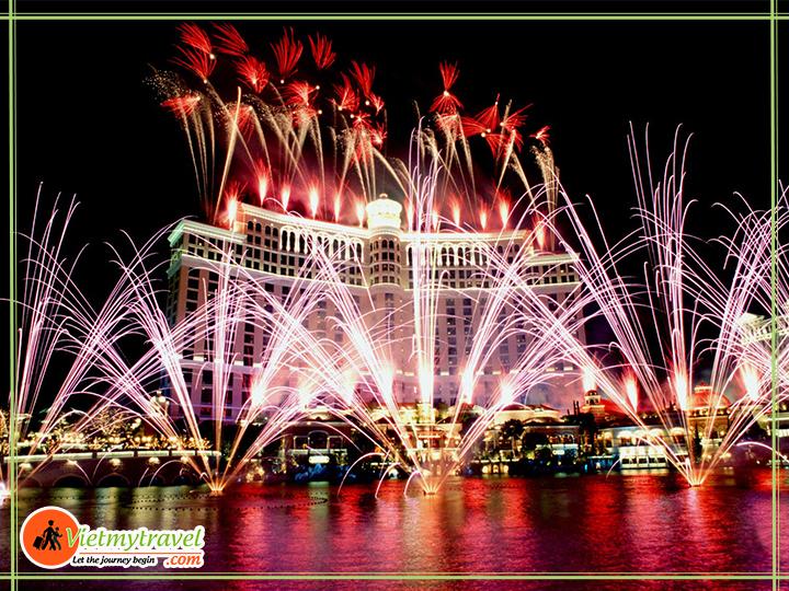 Tour du lịch Mỹ liên tuyến Đông Tây - Show nhạc nước hoàng tráng tại Las Vegas