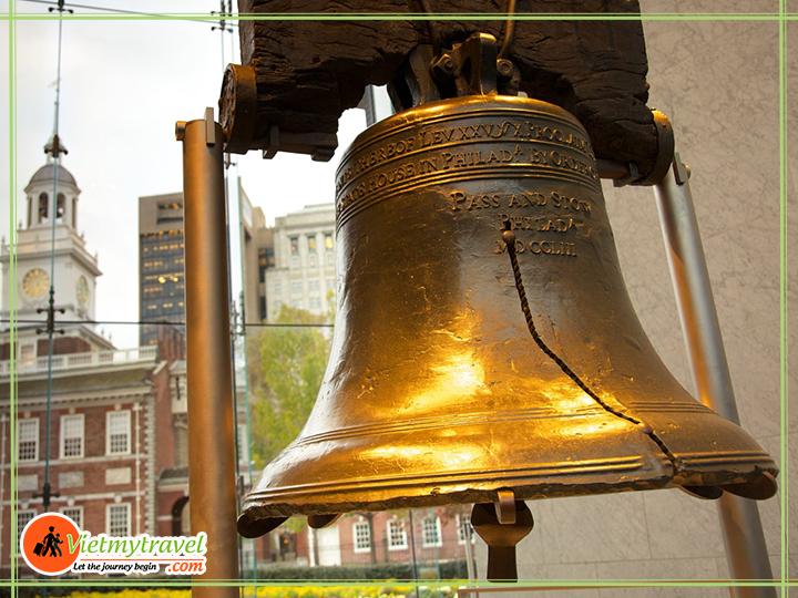 Liberty Bell - quả chuông ngân lên tiếng chương khai sinh ra Hợp chủng quốc Hoa Kỳ.