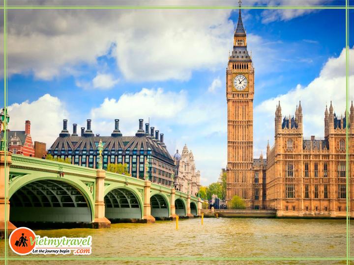 Du lịch Anh quốc - Tháp đồng hồ Big Ben