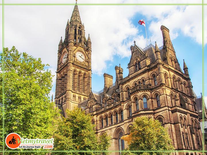 Du lịch Anh Quốc - tòa thị chính Manchester