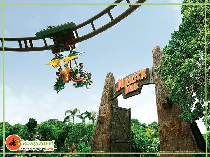 Tour du lịch Mỹ liên tuyến Đông Tây - tham quan công viên khủng long Universal.