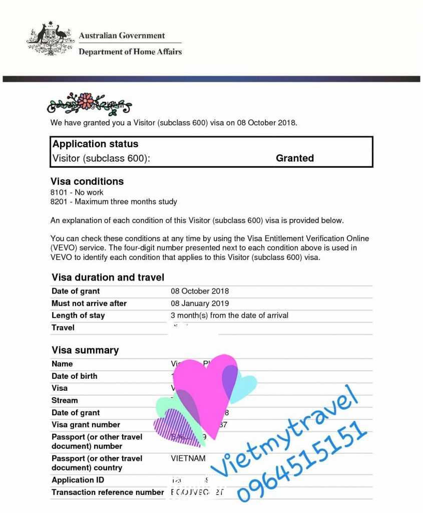 Dịch vụ xin visa đi Úc tại Vietmytravel cam kết Hoàn phí 100% nếu rớt.